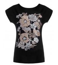 Черная футболка с принтом RINASCIMENTO 80722