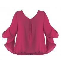 Розовая блуза с оборками RINASCIMENTO 80967