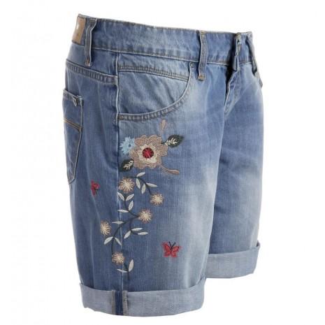 Джинсовые шорты с вышивкой RINASCIMENTO 80788