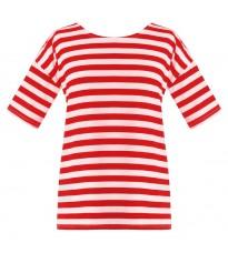 Красная футболка в полоску RINASCIMENTO 81017
