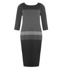 Серое платье с карманами RINASCIMENTO 77002
