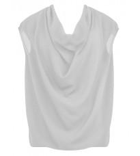 Белая блуза со складками RINASCIMENTO 77164