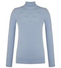 Голубой свитер с бусинами RINASCIMENTO 8341