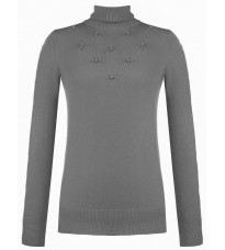 Серый свитер с бусинами RINASCIMENTO 8341