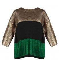 Стильный свитер с зеленой вставкой RINASCIMENTO 8345