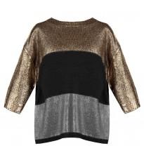Стильный свитер с серой вставкой RINASCIMENTO 8345