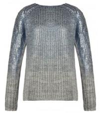Серый свитер с  блестящим напылением RINASCIMENTO 8347