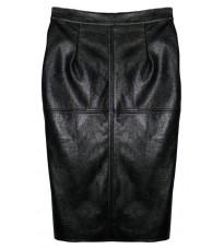 Черная кожаная юбка RINASCIMENTO 82149