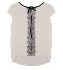 Белая блуза с кружевом RINASCIMENTO 83441