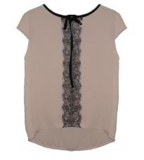 Розовая блуза с кружевом RINASCIMENTO 83441