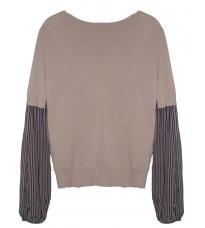 Розовый свитер с рукавами в полоску RINASCIMENTO 8337
