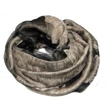 Бежевый шелковый платок с принтом RINASCIMENTO 10857