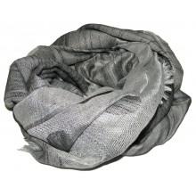 Серый шелковый платок с принтом RINASCIMENTO 10827
