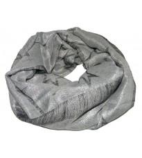 Серый шелковый платок с принтом RINASCIMENTO 10826