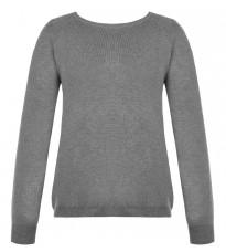 Серый свитер с кружевной вставкой сзади RINASCIMENTO 8420