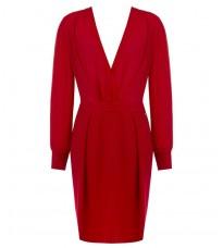 Красное платье с V-образным вырезом RINASCIMENTO 84205