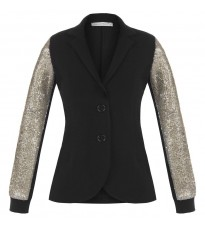 Черный пиджак с пайетками RINASCIMENTO 84447