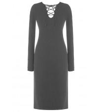 Серое платье с декором в виде шнуровки RINASCIMENTO 8209