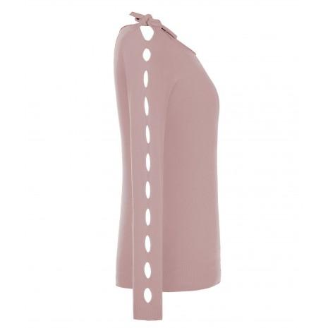 Розовый полувер с декором на рукавах RINASCIMENTO 8214