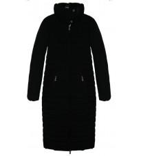 Черная стеганная куртка с карманами на молнии RINASCIMENTO 81821