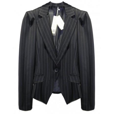 Приталенный пиджак в полоску RINASCIMENTO 82837