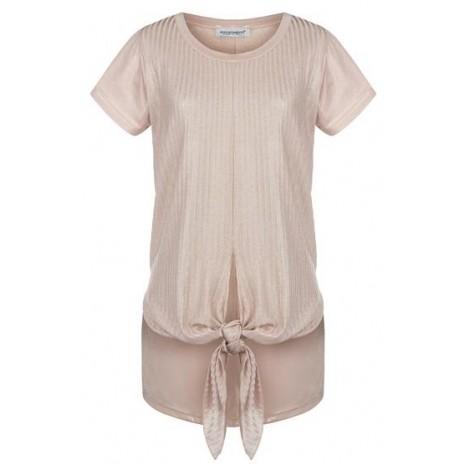 Розовая серебристая футболка с декором RINASCIMENTO 79971