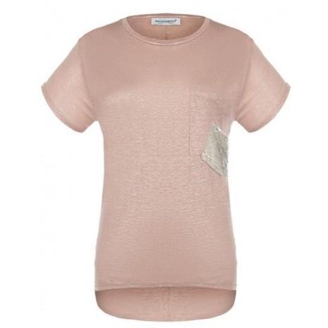 Розовая удлиненная сзади футболка RINASCIMENTO 80145
