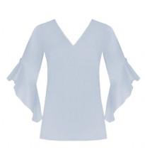 Голубая блуза с оборками RINASCIMENTO 80263