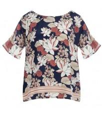Свободная блуза с узором RINASCIMENTO 14744