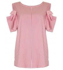 Блуза в полоску с декором на рукавах RINASCIMENTO 79923