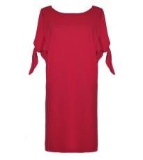Красное прямое платье с декором на рукавах RINASCIMENTO 79830