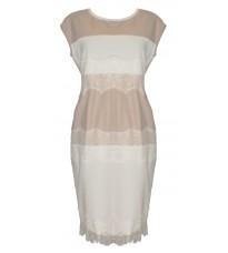 Платье из экокожи с кружевом RINASCIMENTO 79811