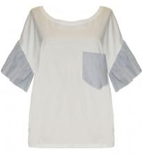 Белая футболка с декором на спине RINASCIMENTO 80451