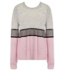 Стильный розовый свитер с полоской RINASCIMENTO 8360