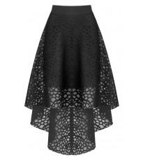 Ассиметричная черная юбка RINASCIMENTO 82025