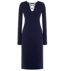 Синее платье с декором в виде шнуровки RINASCIMENTO 8209