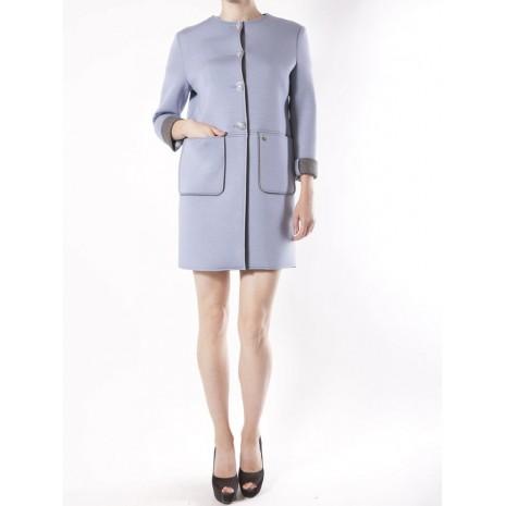 Голубое прямое пальто RINASCIMENTO 82482