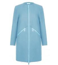 Голубое пальто с карманами на молнии RINASCIMENTO 82486