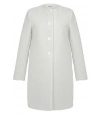 Белое прямое пальто RINASCIMENTO 82540