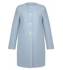Голубое прямое пальто RINASCIMENTO 82540