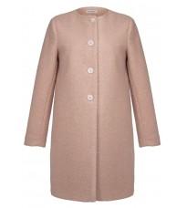 Розовое прямое пальто RINASCIMENTO 82540