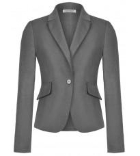 Серый приталенный пиджак RINASCIMENTO 82543