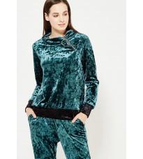Велюровый свитер с молнией на воротнике RINASCIMENTO 82672