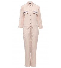Розовый комбинезон с декором на карманах  RINASCIMENTO 80356