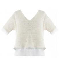 Кремовая футболка RINASCIMENTO 79096