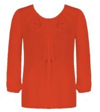 Красная блуза с рюшами  RINASCIMENTO 79127