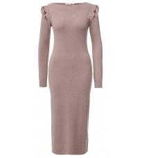 Розовое длинное платье с люрексом RINASCIMENTO 8077