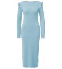 Голубое длинное платье с люрексом RINASCIMENTO 8077