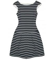 Платье в полоску с кружевной вставкой на спине RINASCIMENTO 79519