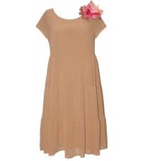 Розовое свободное платье с брошью RINASCIMENTO 78834